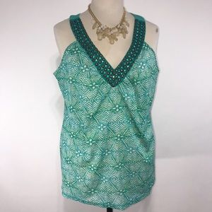 Lane Bryant Zig Zag Embellished Tank Top 18/20 1X